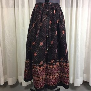 Vintage Embroidered Festival Skirt